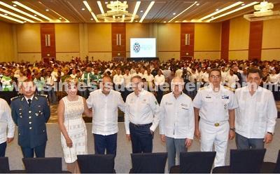 Inauguran Héctor Astudillo y Luis Felipe Puente la Reunión Nacional de Protección Civil