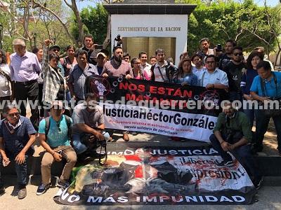 Se solidarizan periodistas de Guerrero con el gremio de Tamaulipas, tras asesinato de Héctor González
