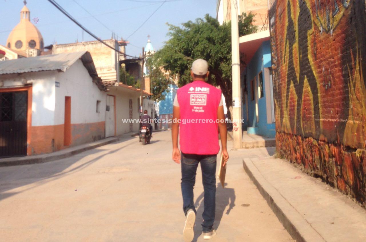 """Pide INE a capacitadores electorales """"evitar zonas de alto riesgo"""" en distrito 06 de Chilapa"""
