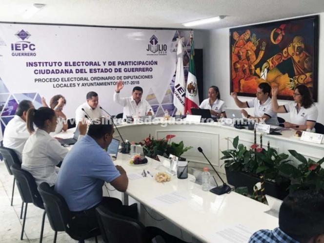 Sustituyen en Guerrero a 153 candidatos a ayuntamientos