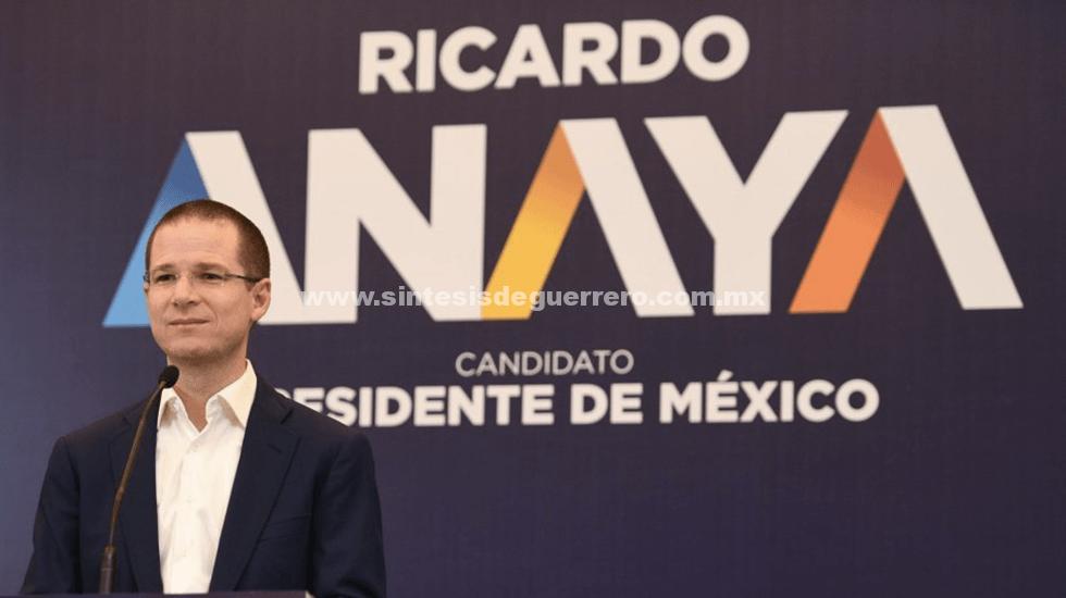 """""""Le vamos a aplicar la quebradora democrática a López Obrador"""": Anaya"""