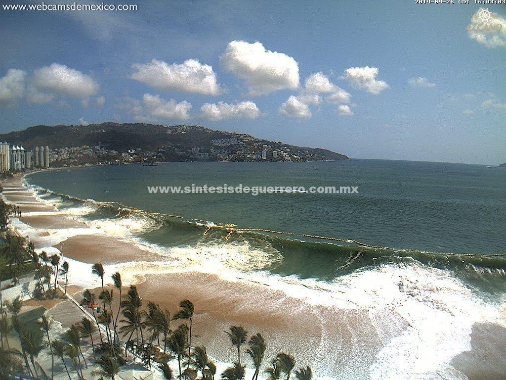 Prevén alto oleaje en las costas de Guerrero