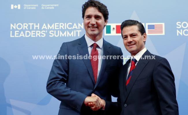 Peña Nieto y Trudeau rechazan imposición de aranceles de EU