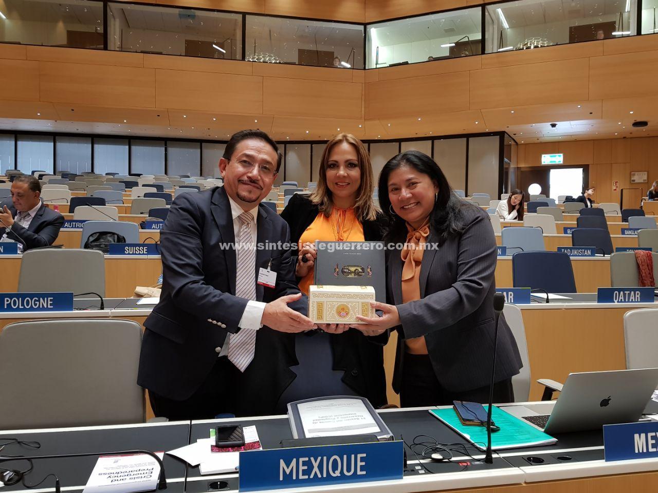 Representa la artesanía de Olinalá a México en Suiza ante la Organización Mundial de la Propiedad Intelectual