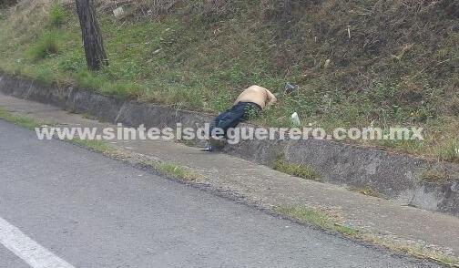 Dejan a otro hombre ejecutado en la carretera Chilpancingo-Iguala