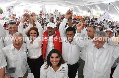 Encabeza René Juárez en Guerrero cruzada en favor del voto para José Antonio Meade