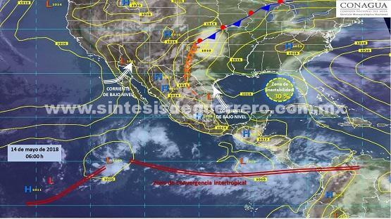 Prevé protección civil Guerrero nublados con probabilidad de lluvias y ambiente caluroso