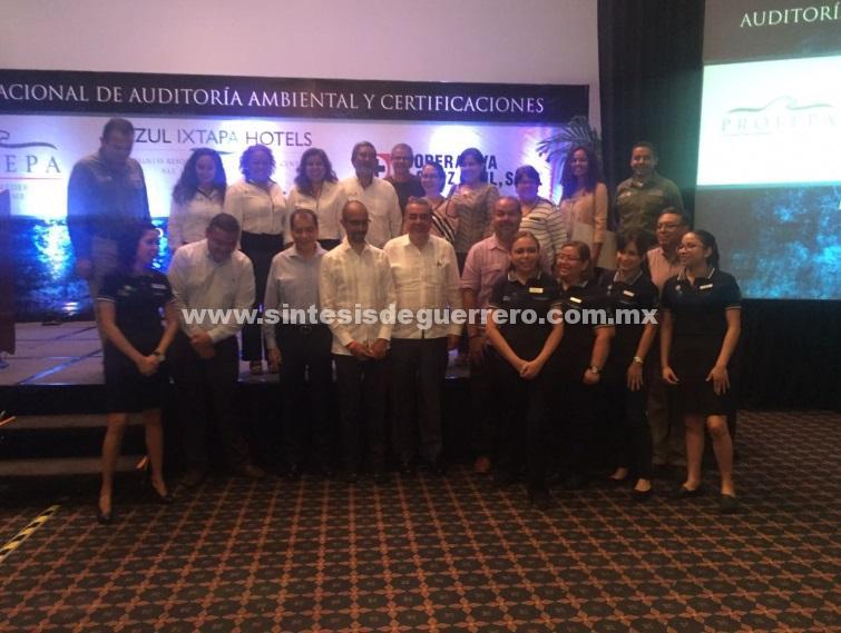 Certifica PROFEPA en calidad ambiental y calidad ambiental turística a cuatro empresas de Ixtapa, Guerrero