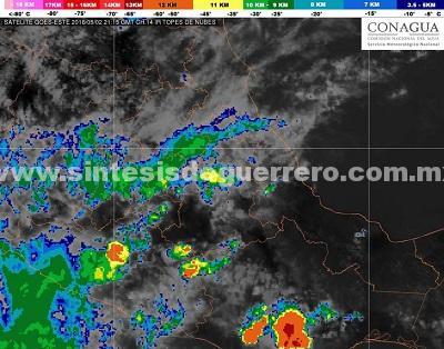 Preve Protección Civil Estatal lluvias fuertes en Guerrero