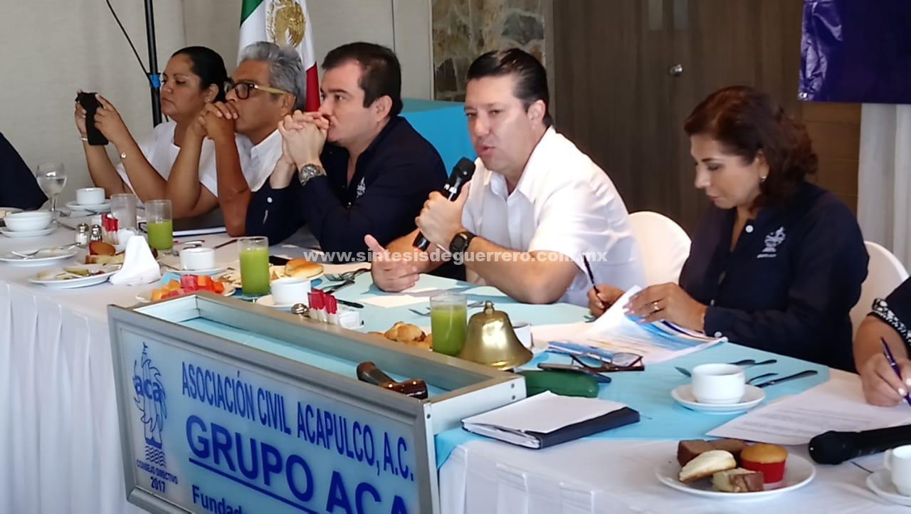 Seguridad pública, problemática y soluciones, propone en desayuno Rubén Figueroa con Acasocios