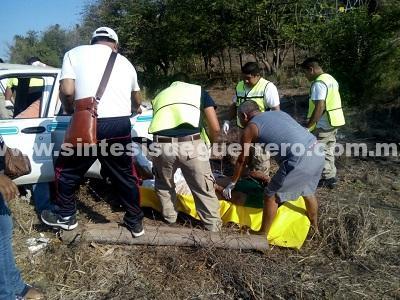 Muere un hombre en accidente en Tecpan