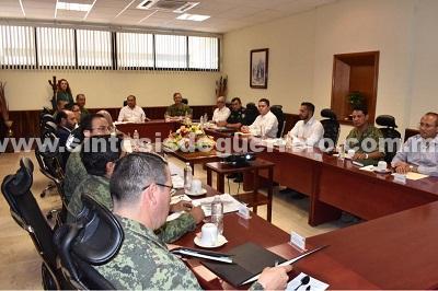 Revisa el gobernador y el Grupo de Coordinación Guerrero operativos para inhibir hechos delictivos