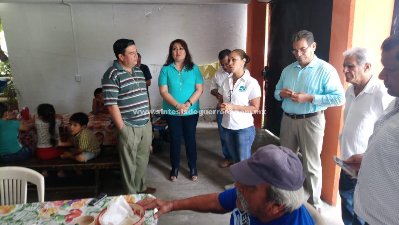 Queremos recuperar ese Acapulco seguro que teníamos; Crystal Medina, en su visita al comedor comunitario de Icacos