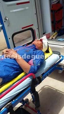 Nueve personas lesionadas, deja choque en carretera Tlapa-Metlatónoc