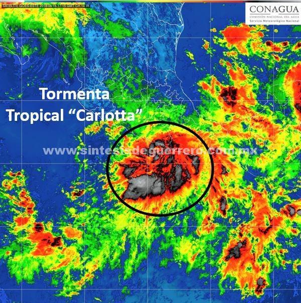 Afectaciones menores dejó Carlota en Acapulco y Costa Chica