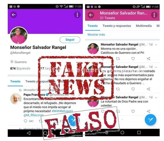 """Se deslinda Diócesis Chilpancingo-Chilapa de cuentas falsas a nombre de """"Salvador Rangel"""""""