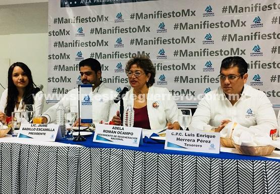 Adela Román ofrece seguridad jurídica a empresarios que inviertan en Acapulco