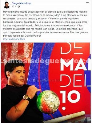Maradona habla maravillas del Tricolor