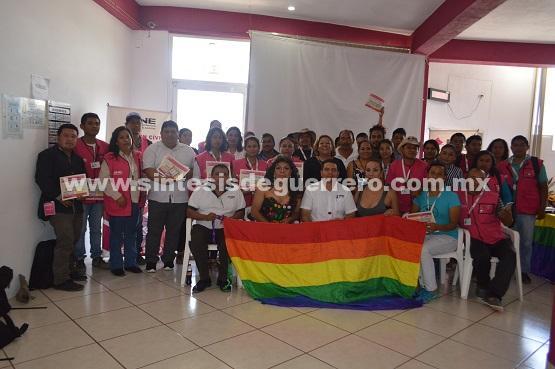 Instituto Nacional Electoral ( INE),  está tomando acciones para lograr la no des criminación; comunidad LGBTTTI y TRANS
