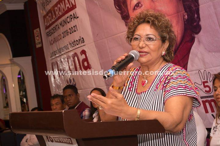 Reconoce Adela Román a cuerpos de seguridad federales y estatales