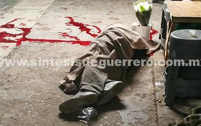 Ejecutan a comerciante en el mercado central de Chilpancingo