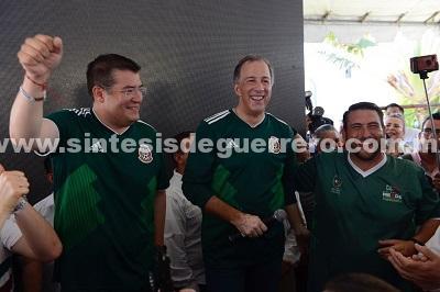 A cerrar filas con Pepe Meade, llama líder nacional al visitar Guerrero