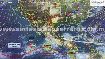 Prevé fuertes lluvias en los próximos tres días en Guerrero