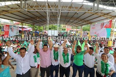 La victoria esta muy cerca, no vamos a aflojar el paso, vamos con todo para ganar este primero de julio, afirma Añorve en Costa Chica.