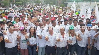 Ricardo Taja será el presidente municipal de Acapulco, hoy se demostró con esta marcha de unidad y fuerza politica, afirma Añorve