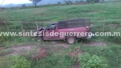Dos muertos deja choque en la carretera federal Altamirano-Arcelia