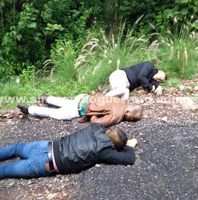 Localizan a tres hombres ejecutados a balazos en la carretera Zacapa-Rancho Viejo