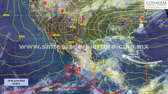 """Nubosidad de """"Carlotta"""" como depresión tropical favorece potencial de tormentas en el sur del país"""