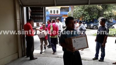 Llega papelería electoral a la Costa Grande, bajo resguardo de la Policía Estatal