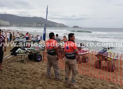 """Vigila Protección Civil estatal evento de """"Mar de Fondo"""" en franja costera de Guerrero"""