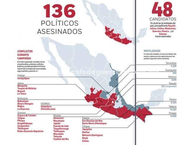 Elección, ante ocho amenazas; conflictos sociales y crimen organizado, entre los focos rojos