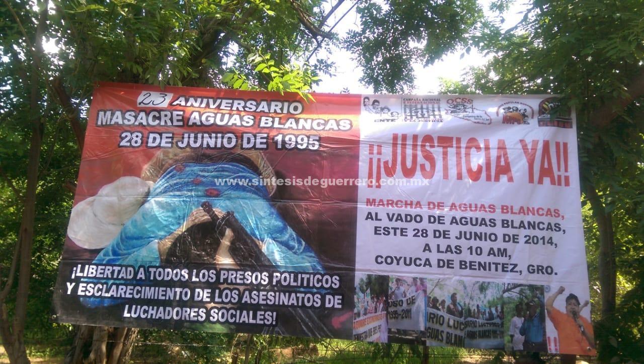 Conmemoran el 23 aniversario de la masacre de Aguas Blancas