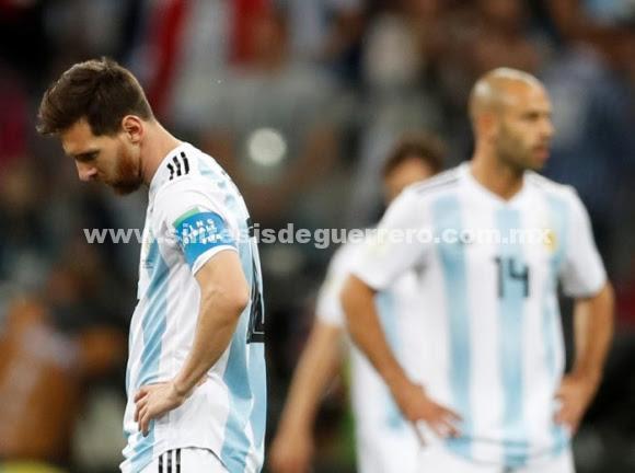 Argentina al borde de la eliminación en el Mundial