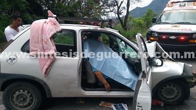 Choque en la carretera federal Chilpancingo-Acapulco; un muerto
