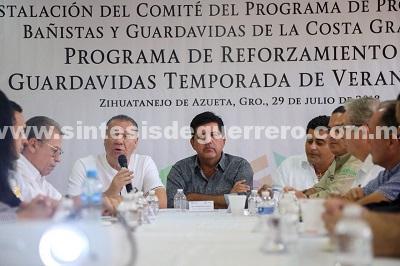 Instalan el Comité y Programa de Protección a los Bañistas y Guardavidas en la Costa Grande