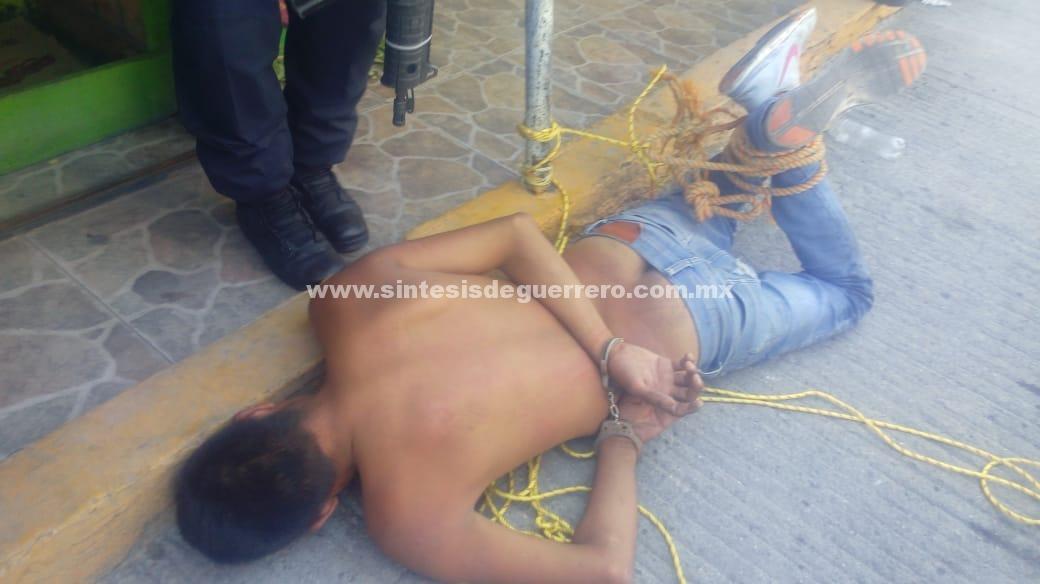 Presunto ladrón, a punto de ser linchado en Chilpancingo