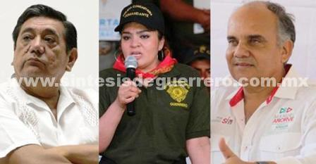 Félix Salgado, Nestora Salgado y Manuel Añorve Baños aventajan rumbo al Senado de la República