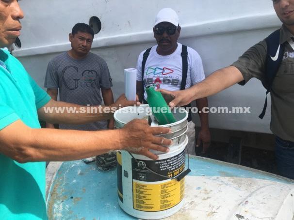 Realiza PROFEPA recorrido de limpieza y capacita a trabajadores de playa Manzanillo, en Acapulco, Guerrero