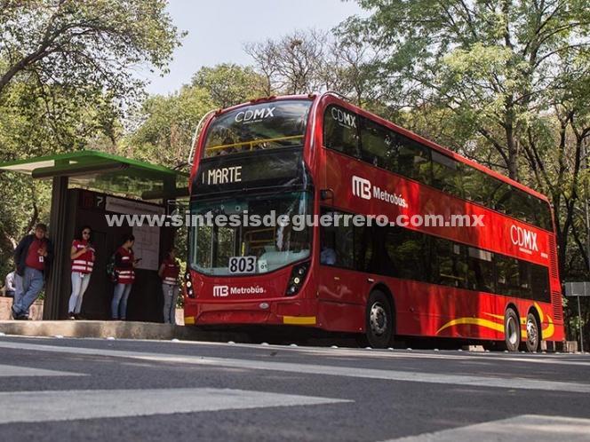 Metrobús suspenderá servicio en 10 estaciones por cierre en Reforma