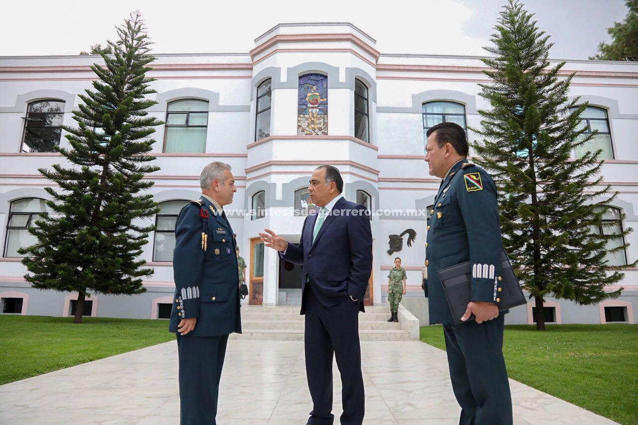 Invita Colegio de la Sedena a Astudillo Flores como ponente en la maestría de Administración Militar y Seguridad Nacional