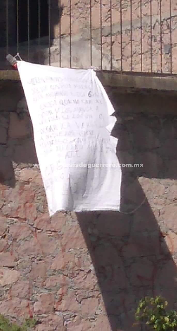 Dejan narcomanta contra la Policía Ministerial, en Taxco