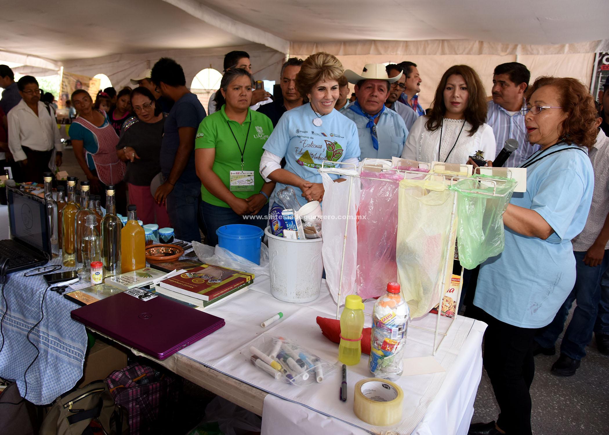 Inaugura Mercedes Calvo la semana de Ecotecnias y Educación ambienta en Chilpancingo