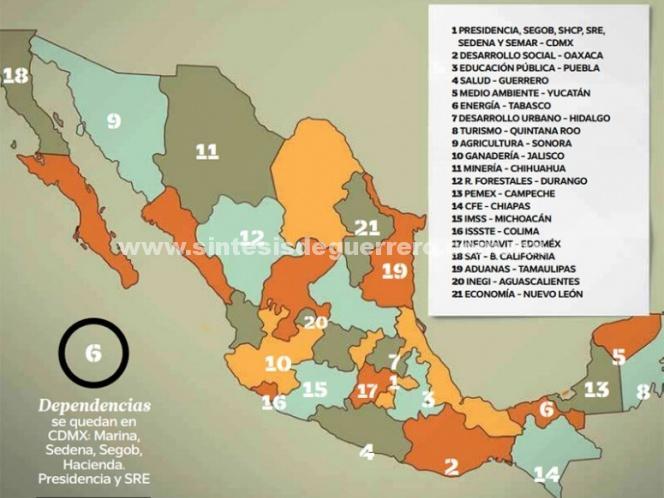 Con López Obrador, inicia la descentralización del gobierno federal