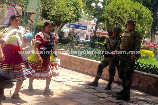 Sedena blinda Chilapa después de los hechos ocurridos el pasado lunes