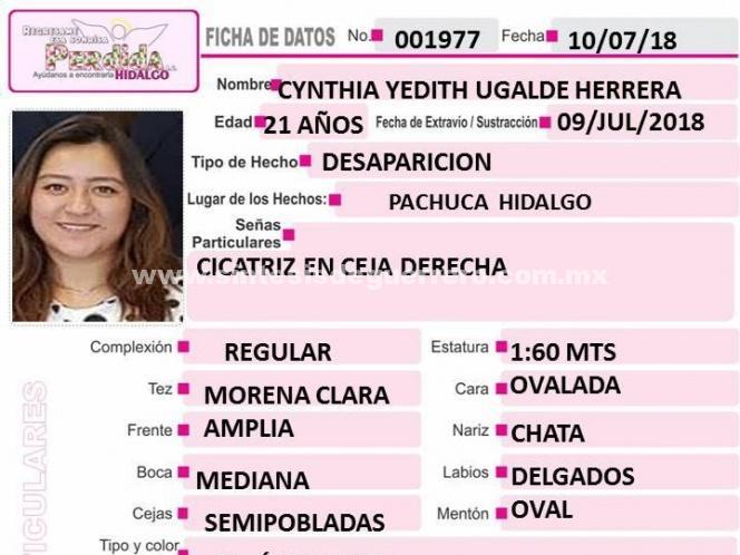 Reportan como desaparecida a alumna del Tecnológico de Pachuca