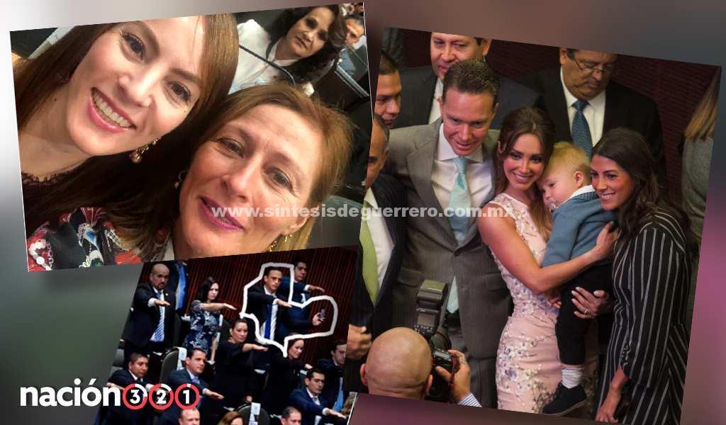 Glamour y selfies, las primeras fotos del nuevo Congreso